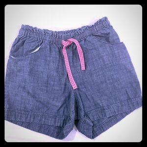 Land's End girls 10-12 blue cotton shorts